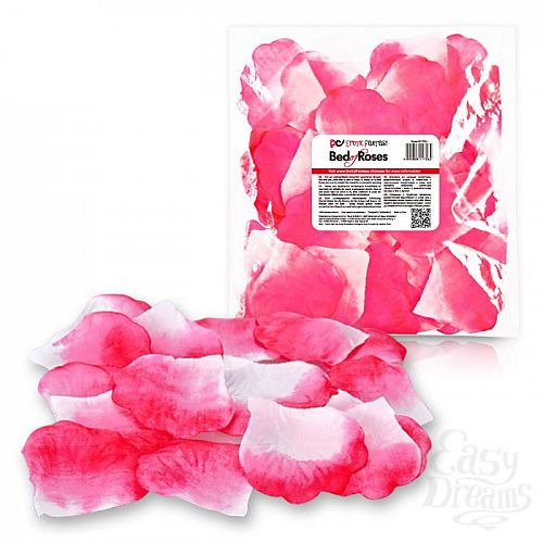 Фотография 1:  Бело-розовые лепестки роз Bed of Roses