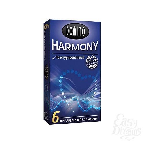 Фотография 1:  Текстурированные презервативы Domino Harmony - 6 шт.