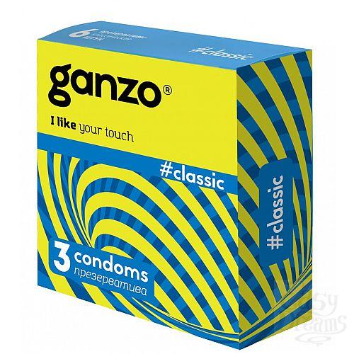 Фотография 1:  Классические презервативы с обильной смазкой Ganzo Classic - 3 шт.