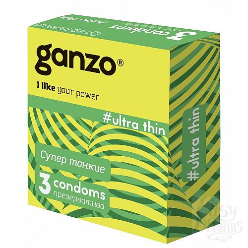 Фотография 1:  Ультратонкие презервативы Ganzo Ultra thin - 3 шт.