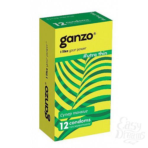 Фотография 1:  Ультратонкие презервативы Ganzo Ultra thin - 12 шт.