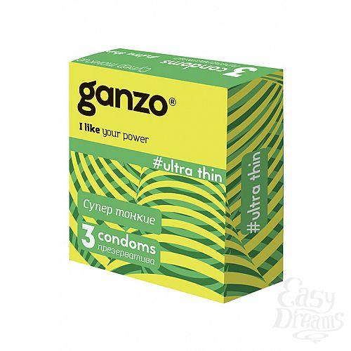 Фотография 1: ФармЛайн Презервативы Ganzo Ultra thin № 3