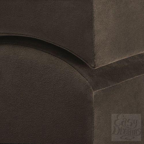 Фотография 2  Коричневая вельветовая подушка для любви Liberator Retail Flip Ramp