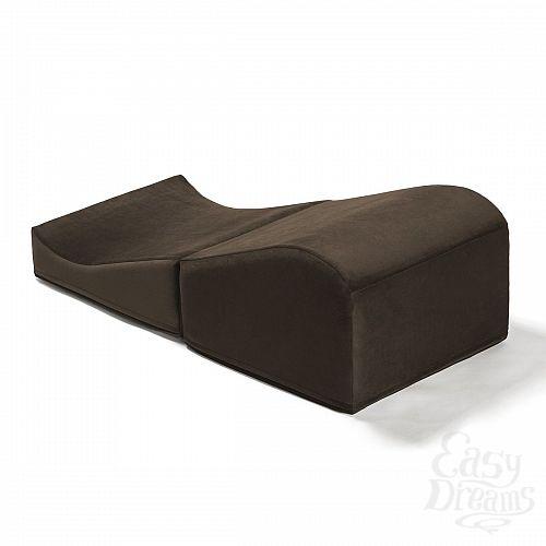 Фотография 3  Коричневая вельветовая подушка для любви Liberator Retail Flip Ramp