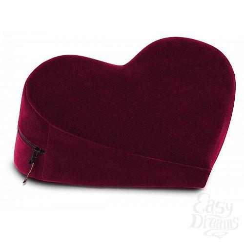 Фотография 1:  Малая вишнёвая подушка-сердце для любви Liberator Retail Heart Wedge