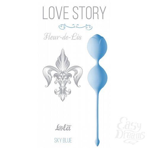 Фотография 1:  Голубые вагинальные шарики Fleur-de-lisa