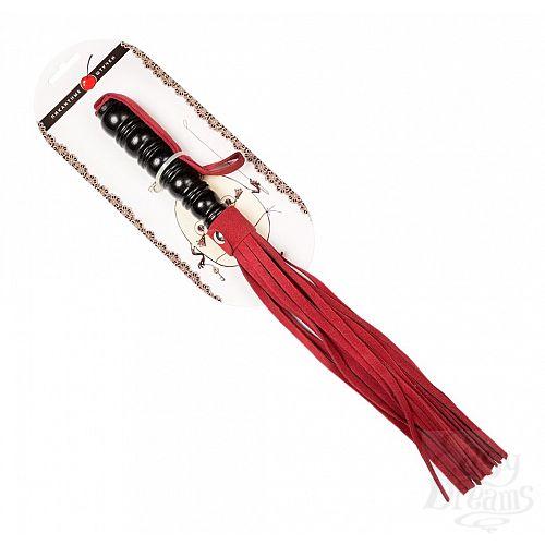 Фотография 2  Яркая плеть из бордовой замши   29 см.