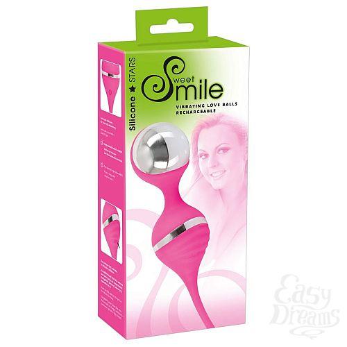 Фотография 4  Розовые вагинальные шарики с вибрацией Smile