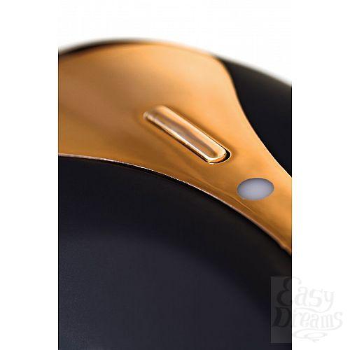 Фотография 9  Чёрно-золотой клиторальный вибромассажер WANAME Surf