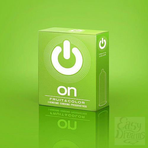 Фотография 1:  Цветные ароматизированные презервативы ON) Fruit   Color - 3 шт.