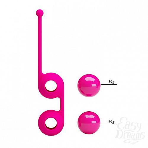 Фотография 5  Ярко-розовые вагинальные шарики Kegel Tighten Up III