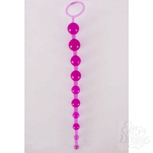 Фотография 1:  Фиолетовая анальная цепочка из 10 шариков (ToyFa 881302-4)