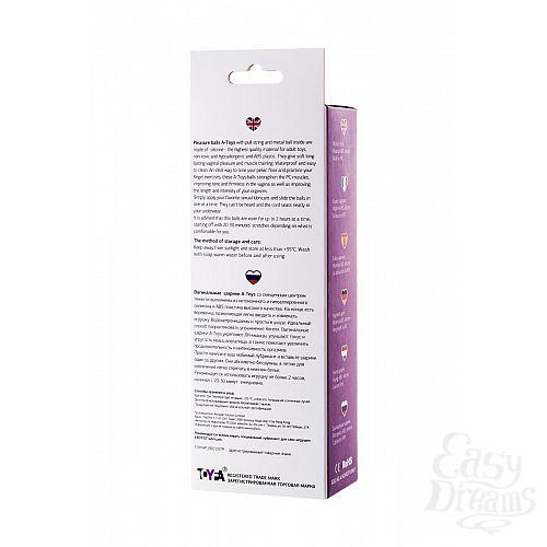 Фотография 4  Фиолетово-чёрные вагинальные шарики TOYFA A-toys