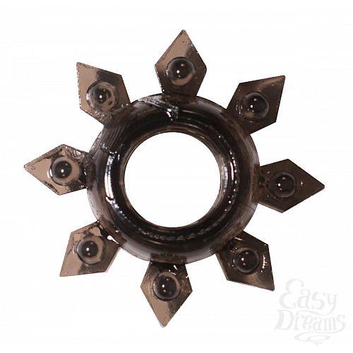 Фотография 1:  Чёрное эрекционное кольцо Rings Gear