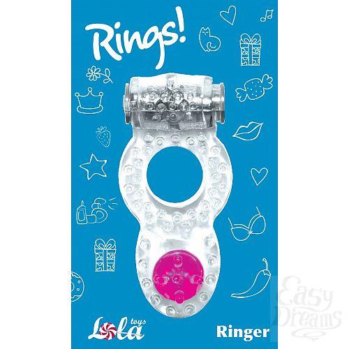 Фотография 3  Прозрачное эрекционное кольцо Rings Ringer