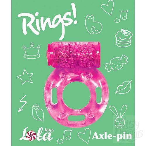 Фотография 3  Розовое эрекционное кольцо с вибрацией Rings Axle-pin