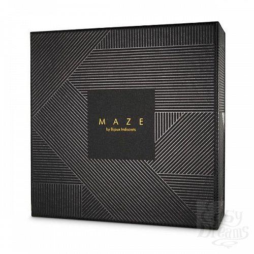 Фотография 3  Чёрные наручники с петлёй MAZE T-RESTRAINTS