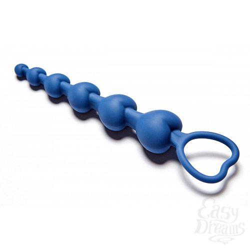 Фотография 2  Синяя анальная цепочка Love Beam - 19 см.