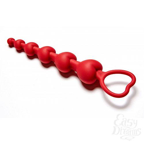 Фотография 2  Бордовая анальная цепочка Love Beam - 19 см.