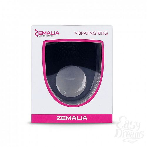 Фотография 2  Чёрное эрекционное кольцо Zemalia Armour