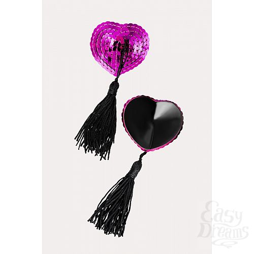 Фотография 2  Соблазнительные пэстисы в форме сердец с кисточками