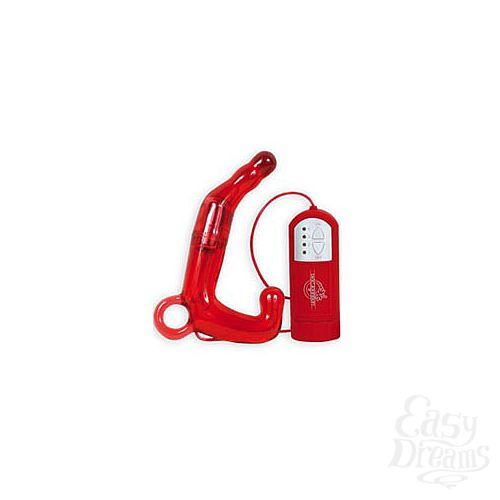 Фотография 1:  Красный мужской водонепроницаемый стимулятор PLEASURE WAND
