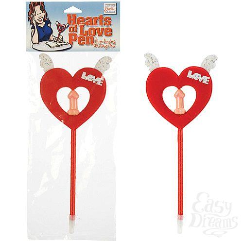 Фотография 1: California Exotic Novelties, Америка  Ручка с декоративным красным сердцем 2462-00 CD SE