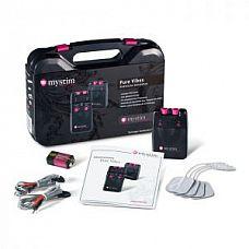 Аналоговый электростимулятор Pure Vibes  В комплекте: электростимулятор Mystim, 4 самоклеящихся электрода, 2 провода для самоклеящихся электродов, 1 батарея 9 Вольт, инструкция, удобный пластиковый футляр.