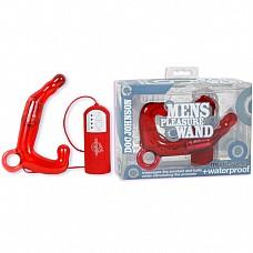 Мужской стимулятор PLEASURE WAND красный 906-01 BX DJ  Четырехскоростной водонепроницаемый массажер простаты из красного силикона предназначен для воздействия на гладкие мышцы прямой кишки и предстательной железы.