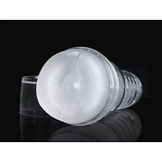 Прозрачный мастурбатор-анус Ice Bottom Crystal  Мастурбатор-анус для мужчин в прозрачном кейсе с полупрозрачной белой вставкой.