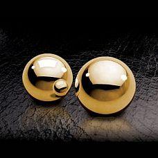 Вагинальные шарики Fetish Fantasy Gold Ben-Wa Balls золотые  Металлические вагинальные шарики со смещенным центром тяжести предназначены для тренировки интимных мышц.