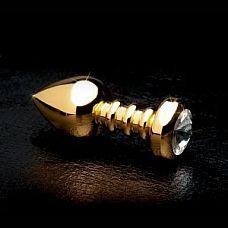 Анальная пробка с кристаллом Fetish Fantasy Gold Luv Plug  Шикарная золотистая анальная пробка с хрустальным кристаллом от Piperdream № удивительное интимное украшение, которое не только добавляет эстетики, но и так же доставит немало удовольствия во время полового акта.