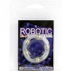 Эрекционное кольцо Robotic Beaded Cockring  Эрекционное кольцо Robotic Beaded Cockring с бусинами.