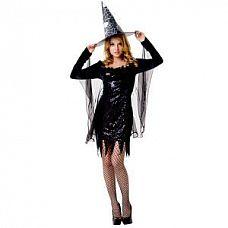 Костюм ведьмочки  Костюм состоит из: платья с вшитой накидкой, головного убора, чулок.