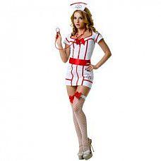 Костюм доктора Сьюзи  Костюм состоит из: платья, головного убора, пояса, стетоскопа, чулок.