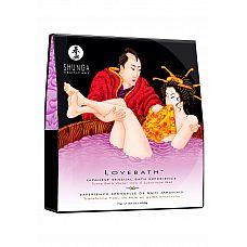 """Набор для ванны """"Ванна любви - Чувственный лотос"""" Shunga  Если Вы любите нежиться в ванной, почему бы не сделать этого с партнером? Чувственные ласки в теплой воде с возбуждающими ароматами добавят неповторимую изюминку в Ваши отношения, сделав их непредсказуемыми и всегда новыми! Вы навсегда забудете о рутине, даже если Вы вместе с партнером уже много лет! Набор для ванны """"Ванна любви - Чувственный лотос"""" включает в себя два пакетика с сухим содержимым, весом 300 и 350 г."""