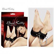 Чёрные оковы для лодыжек Bad Kitty  Чёрные оковы для лодыжек Bad Kitty.