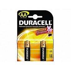 Батарейки AA Duracel New LR6 2 шт  Пальчиковые батарейки типа АА DURACELL алкалиновые.