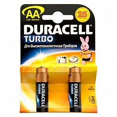 Батарейки AA Duracel Turbo LR6 2 шт  Пальчиковые батарейки типа АА DURACELL алкалиновые.