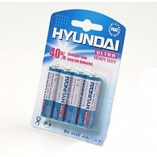 Батарейки AA Hyundai R6 4 шт  Пальчиковые батарейки типа АА.