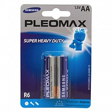 Батарейки AA Samsung Pleomax R6 2 шт  Пальчиковые батарейки типа АА Samsung Pleomax.
