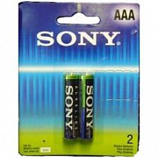 Батарейки AAA Sony Alkaline LR03 2 шт  Мизинчиковые батарейки типа ААA Sony Alkaline алкалиновые.