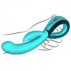 Бирюзовый вибратор Хай-Тек LEIA   Перезаряжаемый вибромассажер Хай-Тек LEIA бирюзовый № имеет идеальную форму для внутренней стимуляции и совершенный клиторальный стимулятор.