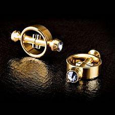 Золотые зажимы на соски на магните Magnetic Clamps  Выполнены из высококачественного металла и отполированы до совершенства.