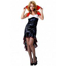"""Костюм """"Готической вампирши"""" черный SM 02490OS  Костюм состоит из:  платья с воротником В этом костюме нашли отражения три самых главных цвета: черный, белый и красный."""