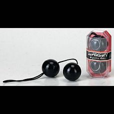 Чёрные вагинальные шарики со смещённым центром тяжести  Вагинальные шарики со смещенным центром тяжести.