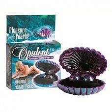 Перламутровые фиолетовые вагинальные шарики Opulent Lacquer Cote Pearls  Вагинальные шарики в виде перламутровых жемчужин.