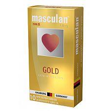 Masculan Ultra 5,  10 шт. *10 Ультра Золотой (Gold)  Презервативы Masculan Ultra 5,  №10 Ultra .