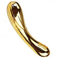 Золотой премиум-вибромассажер HONORADBLE Gold - 17,5 см.  Золотой премиум-вибромассажер HONORADBLE Gold.