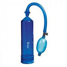 Синяя вакуумная помпа Power Pump Blue  Помпа для мужчин синего цвета.